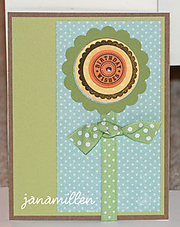 Birthday flower card standing