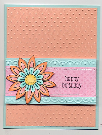 Birthday Copic flower card
