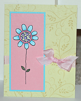 Small flower card 1