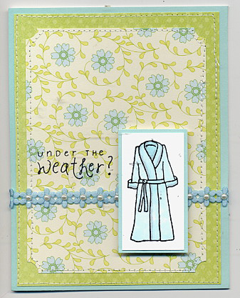 Under the weather robe card