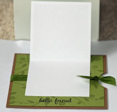 Hello friend card open