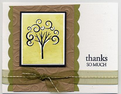 Crayon tree card
