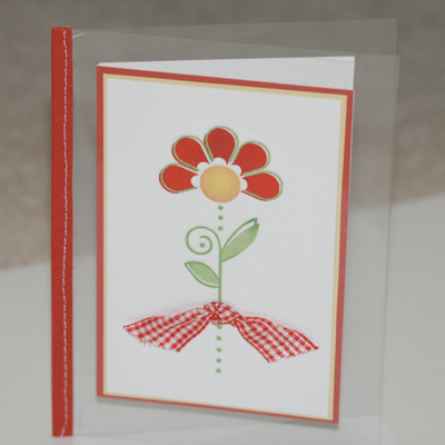 051507 Clear flower blank card standing for 2Peas