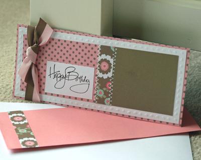 Birthday Paper Salon long card standing