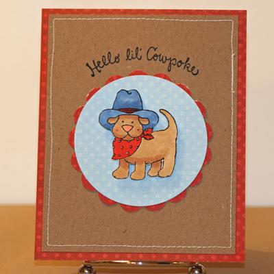 090808 Little Cowpoke card standing