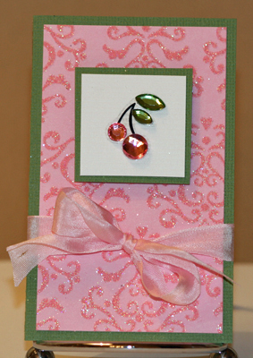 Cherry sparkle card