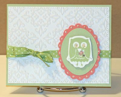 Owl white card