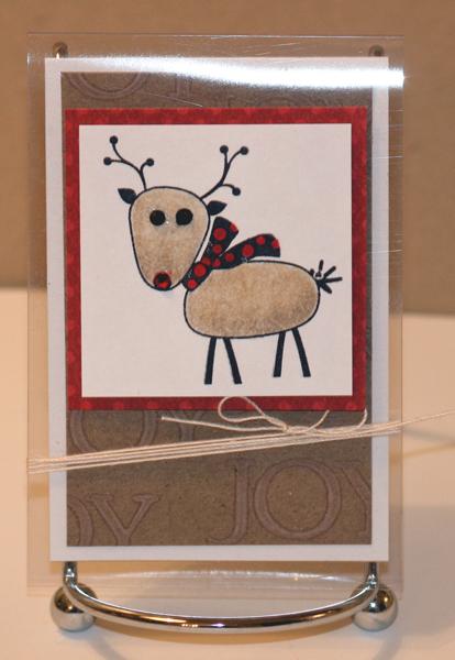 Reindeer clear mini card