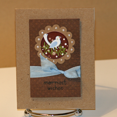 120908 Merriest wishes brown card