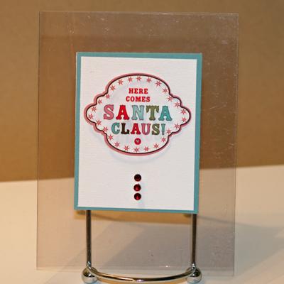 120908 Santa Claus clea4r card