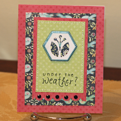 Bug under the weather card