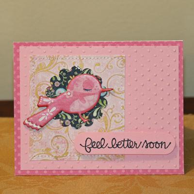 BG Feel Better soon birdie card
