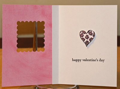 Hearts card inside