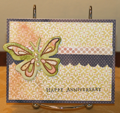 Porcelain butterfly card