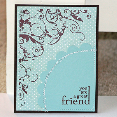 060608 Great friend card standing