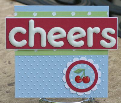 Cherry cheers card