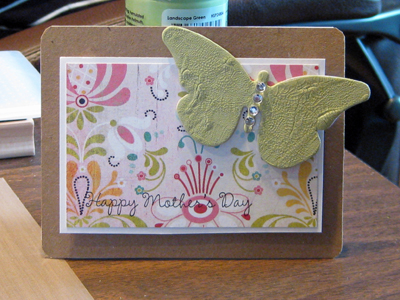 Green butterfly MD card standing