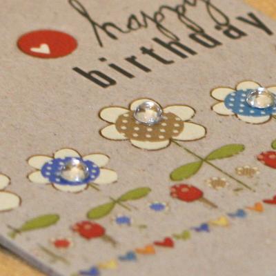 Heidi Grace chipboard tag card close up
