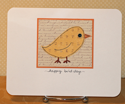 Happy Bird day Jennifer card