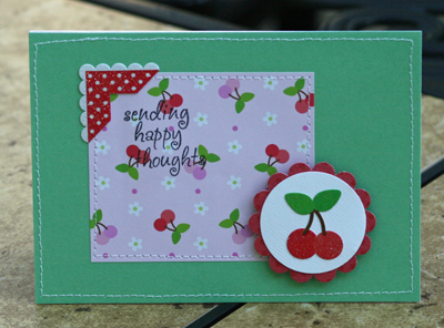 Sending happy thoughts card
