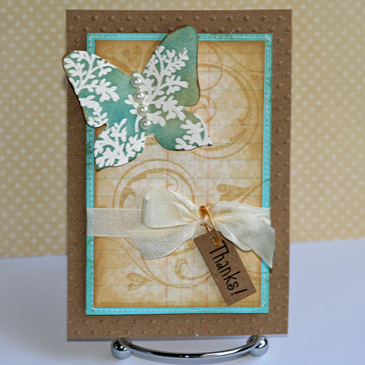 Butterfly card for EP standing