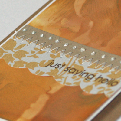 Just saying hello gold card close up 2