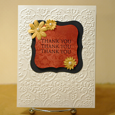 Thank you Fire brick di card