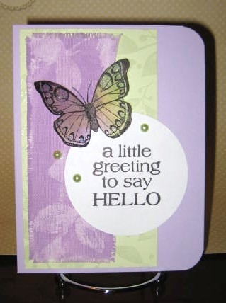 Little Greeting Butterfly card