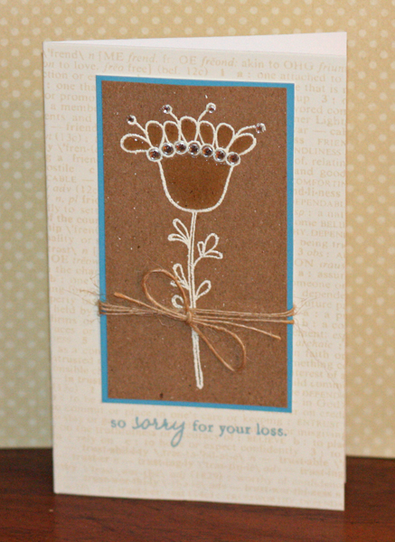 032110 Kraft glossy accents flower cards standing