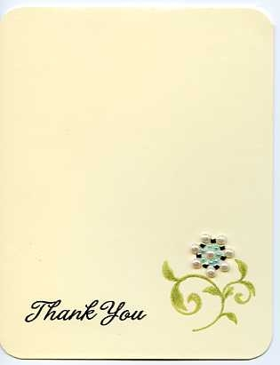 Thank you card from Jennifer