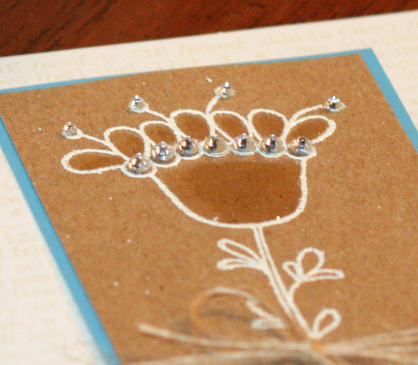 032110 Kraft glossy accents flower cards close up 1