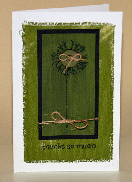 All green canvas card