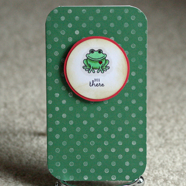 052010 Mini frog card standing