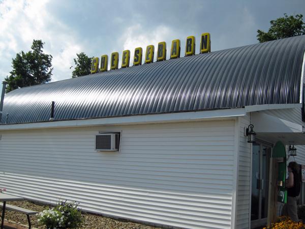 Cheese barn outside