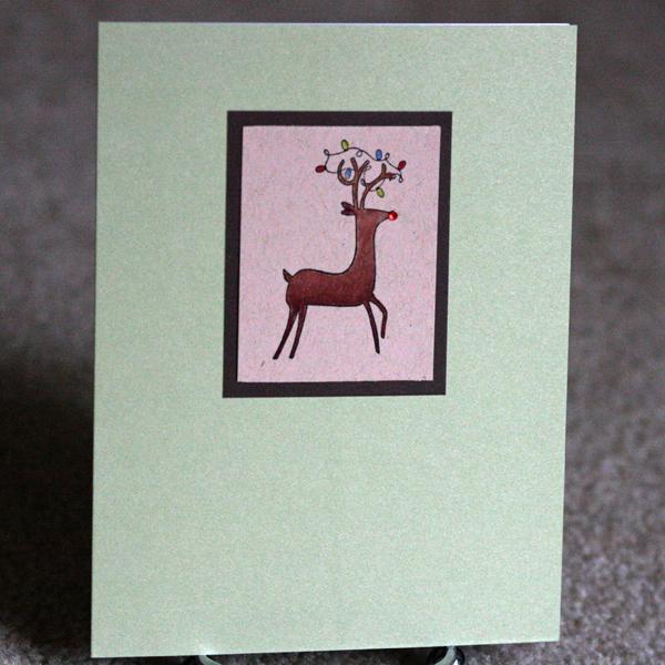 080110 Dave class reindeer card standing