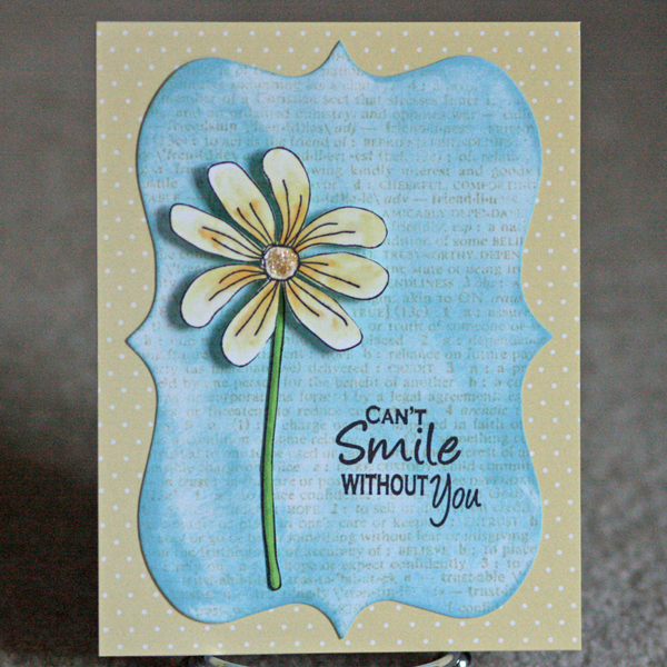 080110 Can't smile OCL flower card standing