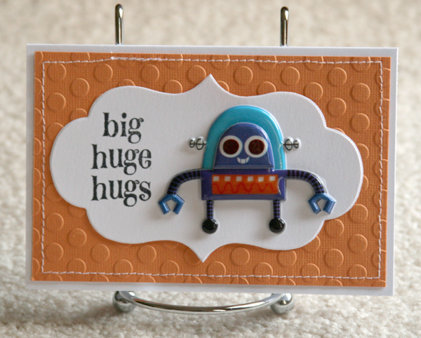082010 Hugs robot card orange