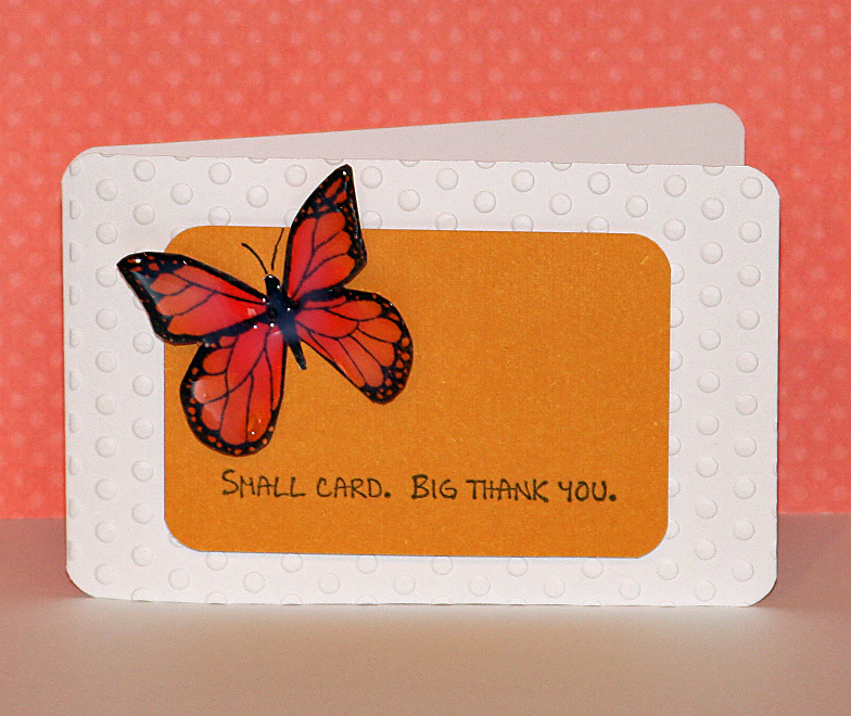 082410 red small butterfly card standing