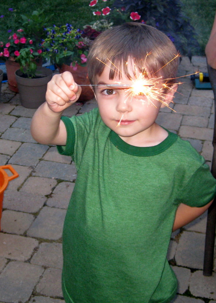 Colin with sparkler