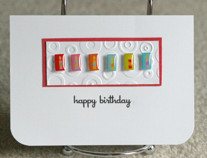 072510 Birthday candle card standing