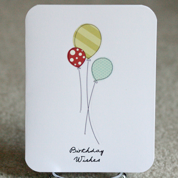 080110 Simple balloon card standing