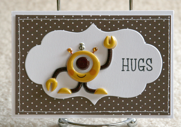082010 Hugs robot card brown