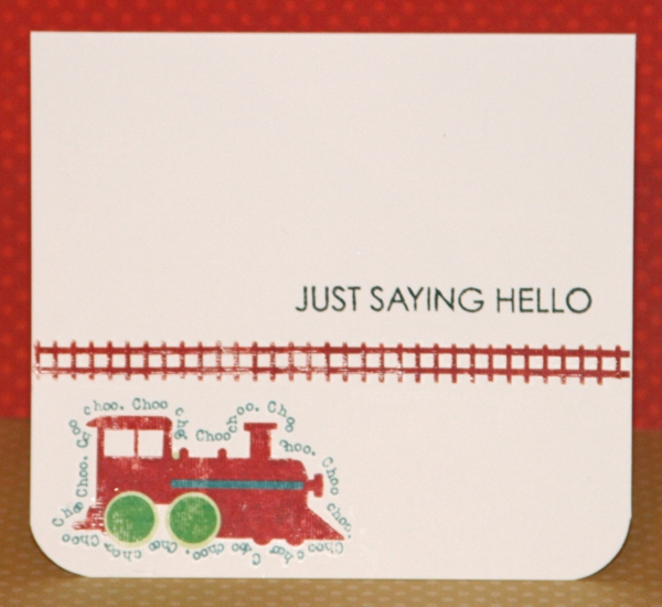 Saying hello card for Benny