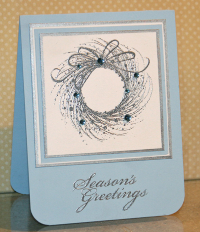 Silver wreath card