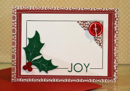 Joy holly card