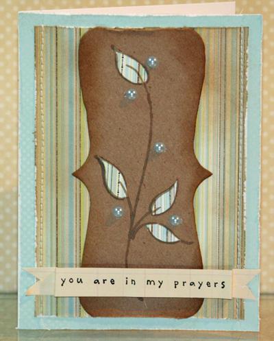 Praying for you Memory Box card