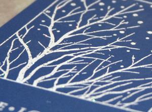 Snowflake tinsel card 2