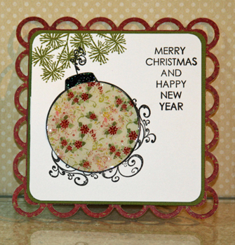 Red ornament card 1