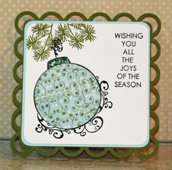 Blue ornament card 1