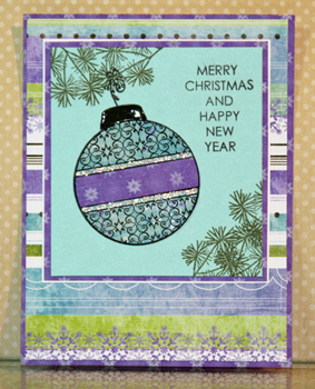 Bo bunny ornament card